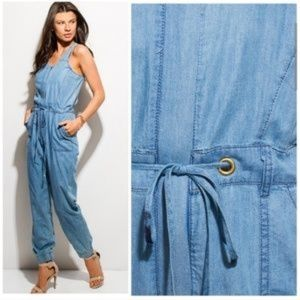 Stay Cool In This Lightweight Chambray Jumpsuit
